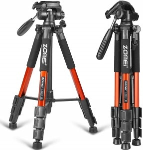 ZOMEI Compact Light Weight Travel Portable Aluminum Camera Tripod
