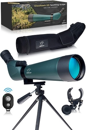 HD Spotting Scope with Tripod 20 - 60x80mm - BAK 4 Prism Spotting Scopes for Target Shooting Hunting Astronomy Bird Watching